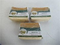 (3) Green Tea Soap Bar - Handmade Organic Herbal