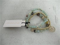 Canvas 3 Stack Gemstone Bracelets