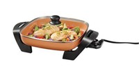 """""""As Is"""" Starfrit EcoCopper 12"""" Electric Skillet"""