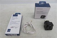 Insignia AC Travel Adapter & Micro USB Charge