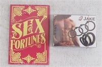 Jake 7-Pc C-Ring & Sex Fortunes Adult Game