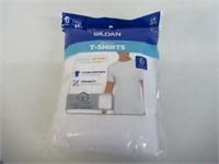 Gildan Men's Large Crew T-Shirt 6-Pack, White