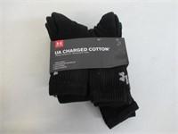 Under Armour Mens Medium Charged Cotton Crew Socks