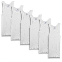 Fruit of the Loom Men's Large A-Shirt, White (Pack