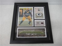 "NFL Bj Raji Bay Packers Green Framed 15"" x 17"""