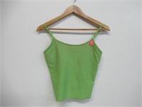 Girl's Swim Suit Tankini Top, Green/Black