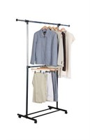 Mainstays 2 Tier Adjustable Garment Rack, Black