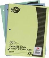 (3) 3-Packs Hilroy Excercise Book, Ruled, 80