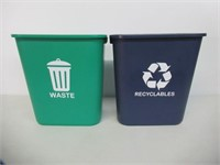 Acrimet Wastebasket for Recycling and Waste 27QT