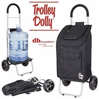 Trolley Dolly, Black Shopping Grocery Foldable