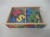 Melissa & Doug 52 Wooden Alphabet Magnets in a