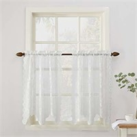 No. 918 Alison Floral Lace Sheer Kitchen Curtain