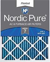 Nordic Pure 12x20x1M7-6 MERV 7 Pleated AC Furnace