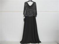 J Kara Women's 10 Long Beaded Dress with Cowl