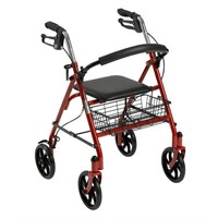 Four Wheel Walker Rollator w/ Fold-Up Removable