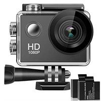 "4K Full HD 2"" LCD Action Camera - Wide Angle Lens,"