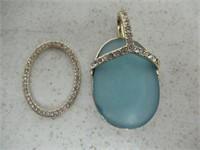 Gemstone Pendant With Diamond Accents