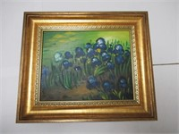 """Irises by Monet Reproduction Painting 8""""x10"""""""