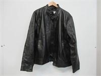 Calvin Klein Men's X-Large Leather Moto Jacket,
