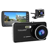 TOGUARD 1080P Dash Cam Front/Rear Dual Cameras for