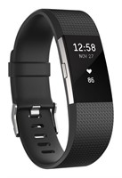 Fitbit Charge 2 Fitness Tracker, SM/LG, Black