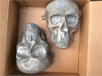 Vintage Mortician's Reconstruction Skull Molds