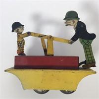 "Marx Tin Wind-up ""Moon Mullins & Kayo"" RR Car"