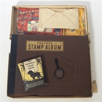 Vintage Stamp Books with Stamps