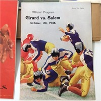 2 Scrapbooks FULL of 40s Local Sports Programs