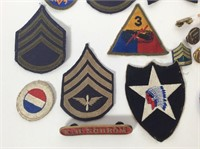 Lot of Military Patches, Pins
