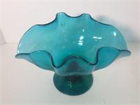 3pcs. Blue Art Glass