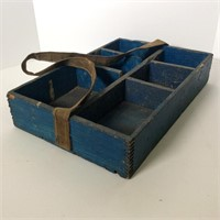 Blue Painted Dove Tailed Tool Box