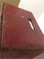 Red Painted Wood Crate, Shadow Box