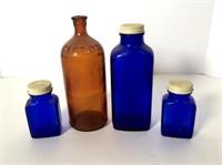 Cobalt and Amber Bottles