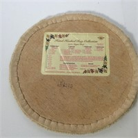 3 Round Hand Hooked Chair Pads
