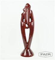 Haeger Attrb. Ceramic Sculpture of Couple