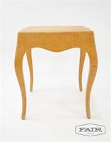 Italian Modern Grass Cloth Occasion Table