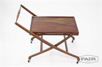 Rosewood Folding Serving Cart