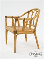 McGuire Style Set of 6 Rattan Chairs