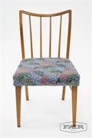 Set of 4 Curved Wood Spindle Back Dining Chairs