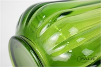 Very Large Green Glass Swung Vase