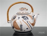 Teapot with Hippo Lid and Tureen Marked Danmark