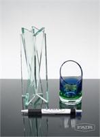 Clear Geometric Vase and Fossheim Votive