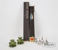 Dansk Candle Holders and Tapered Candles