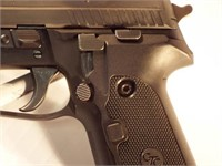 Sig Sauer P229 semi auto pistol, case