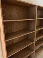 Pair of Good Oak Finish Book/Workshop Shelves