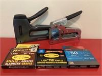 Pair of HD Staplers and Staples