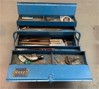 Older Kazet Pipe Fitters Tool Box with Tools