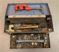 Large Pipe Fitters Tool Box with Tools