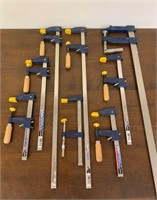 Many Woodworking Clamps
